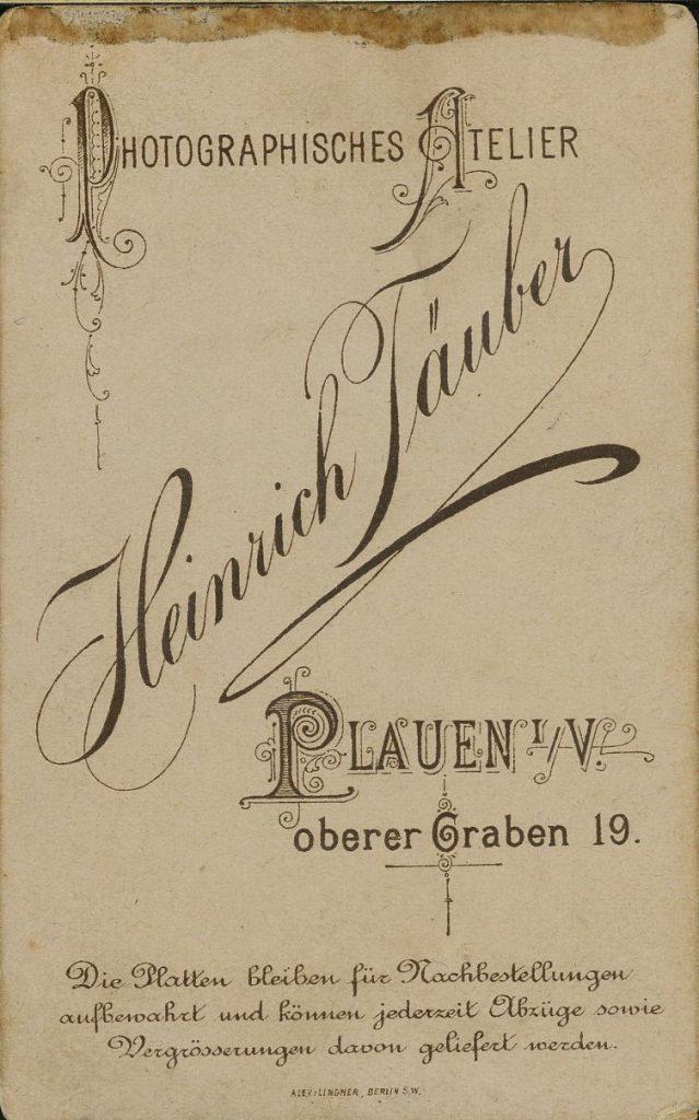 Heinrich Täuber - Plauen