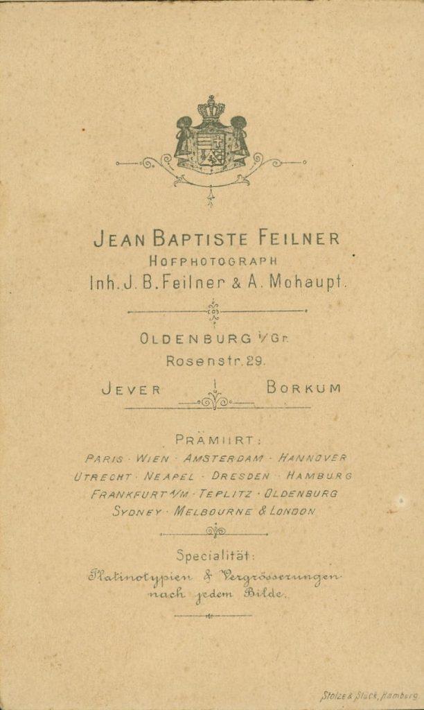Jean Baptiste Feilner - A. Mohaupt - Oldenburg - Jever - Borkum