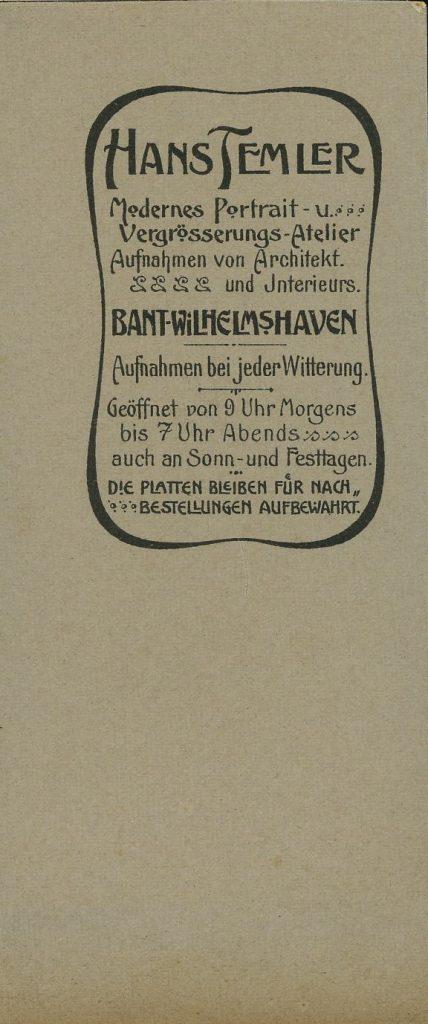 Hans Temler - Bant-Wilhelmshaven