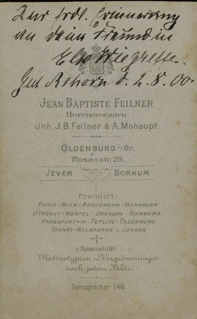 Jean Baptiste Feilner - A. Mohaupt - Oldenburg i.Gr - Jever - Borkum