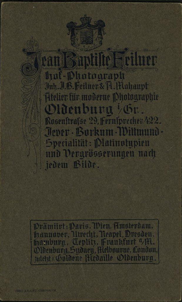 Jean Baptiste Feilner - A. Mohaupt - Oldenburg i.Gr - Jever - Borkum - Wittmund
