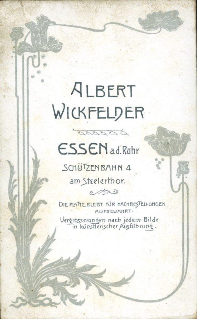 Albert Wickfelder - Essen a.d.Ruhr