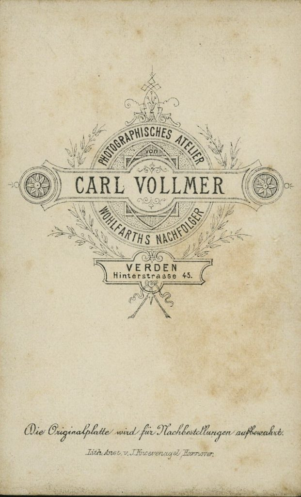 Carl Vollmer - Verden - Wohlfarth