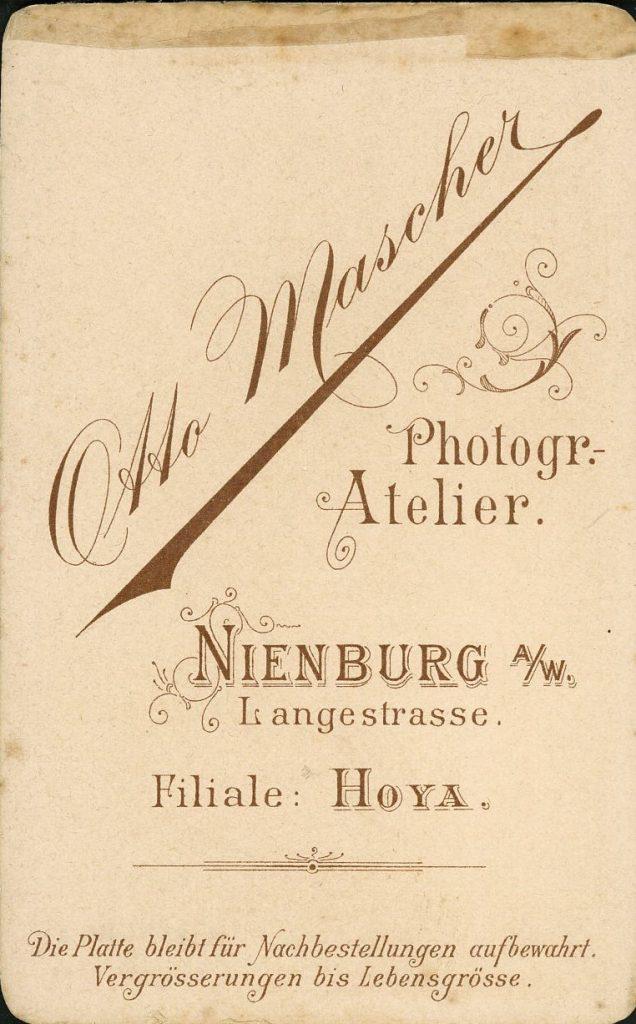 Otto Mascher - Nienburg a.W - Hoya