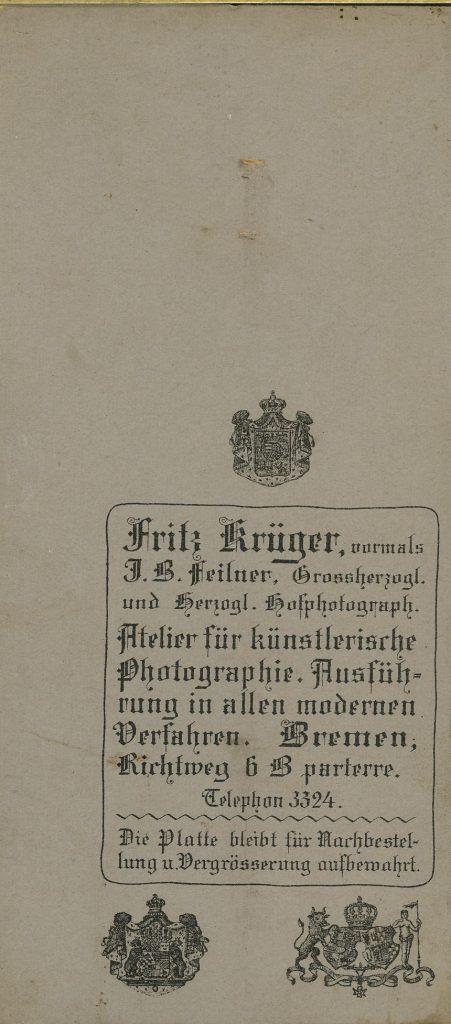 Fritz Krüger - Bremen - Jean Baptiste Feilner