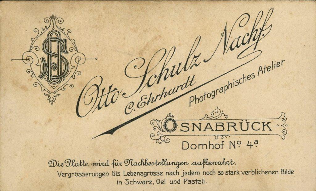 Otto Schulz - C. Ehrhardt - Osnabrück