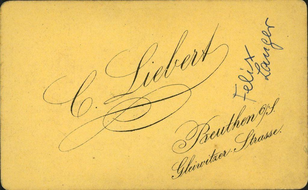 C. Liebert - Beuthen o.S.
