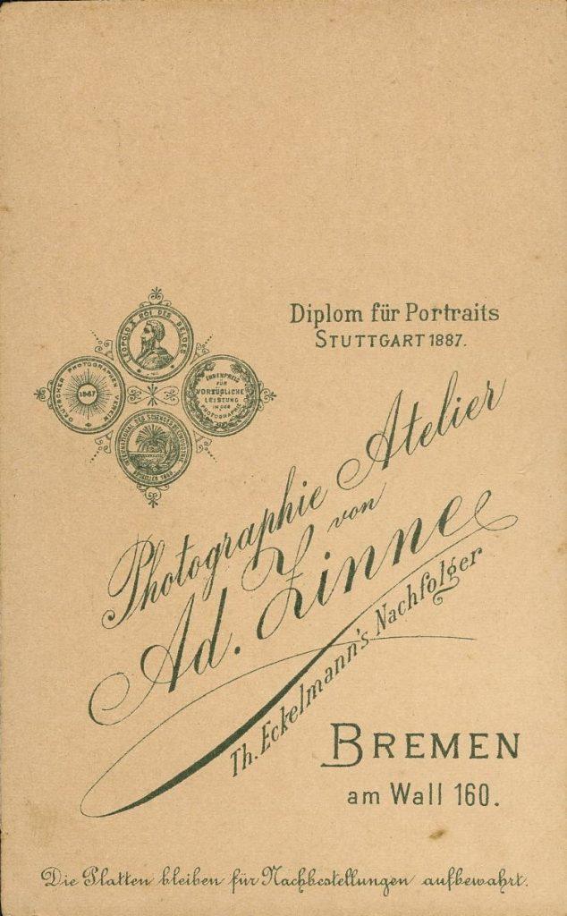 Ad. Zinne - Bremen - Th. Eckelmann