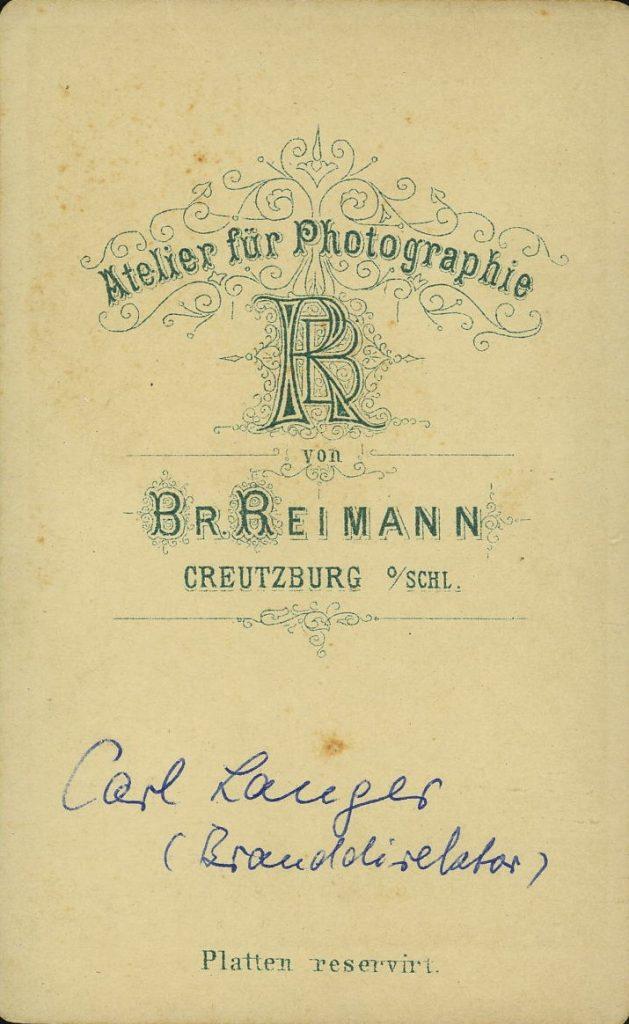 Br. Reimann - Creutzburg o.Schl