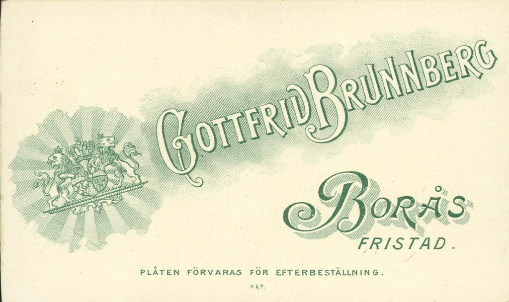 Gottfrid Brunnberg - Fristad - Borås