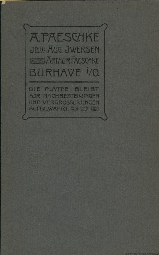 A. Paeschke - Burhave i.O. - Aug. Iwersen