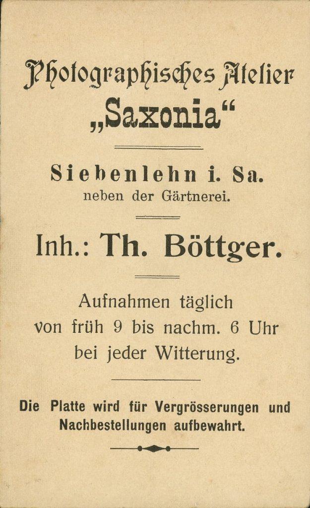 Saxonia - Th. Böttger - Siebenlehn i.Sa.