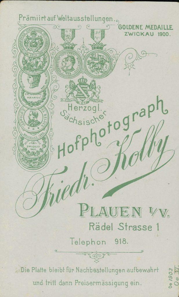Friedr. Kolby - Plauen i.V.