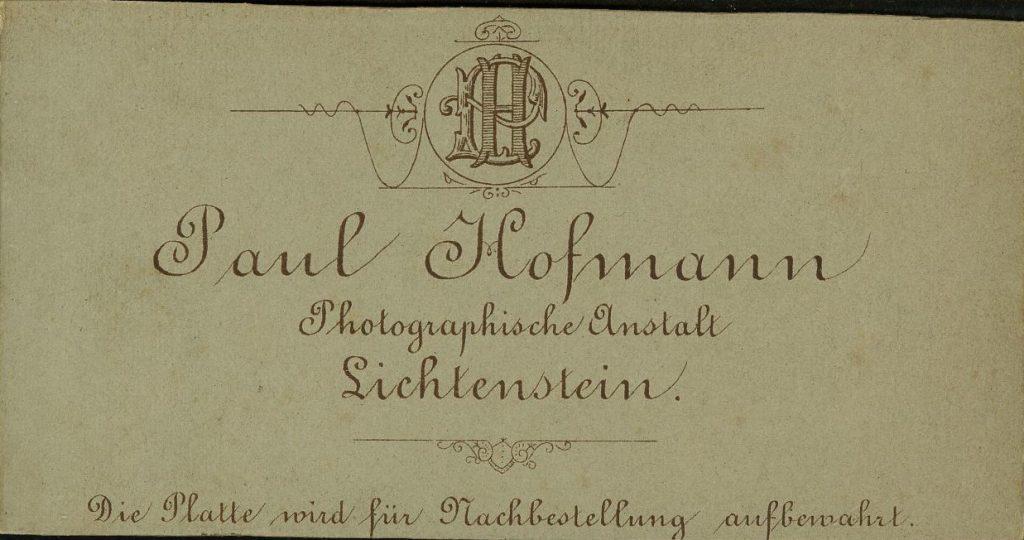 Paul Hofmann - Lichtenstein