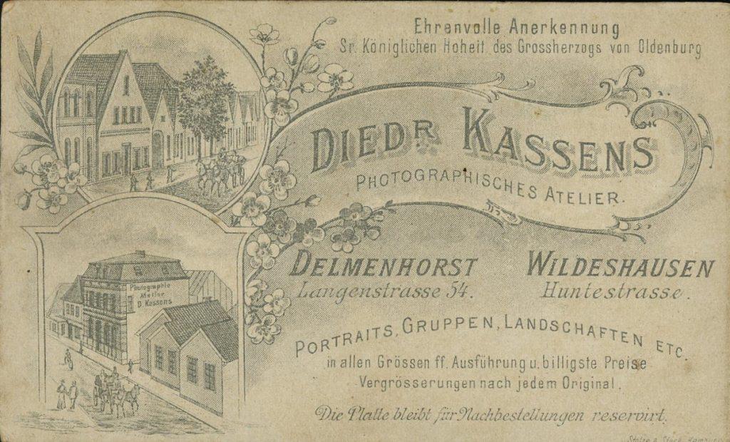 Diedr. Kassens - Delmenhorst - Wildeshausen