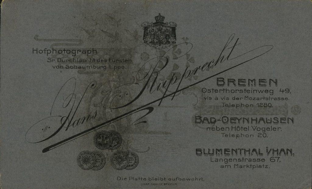 Hans Rupprecht - Bremen - Bad-Oeynhausen - Blumenthal i.Han