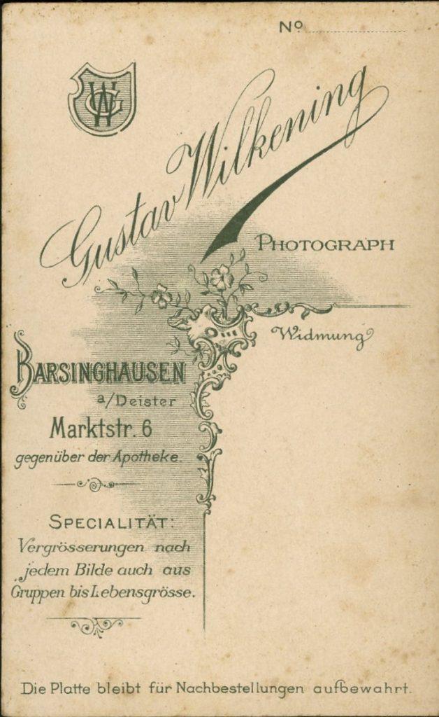 Gustav Wilkening - Barsinghausen a.D.