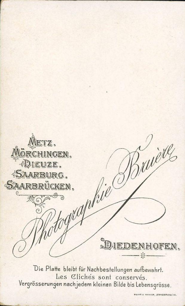Buière - Metz - Mörchingen - Dieuze - Saarburg - Saarbrücken - Diedenhofen