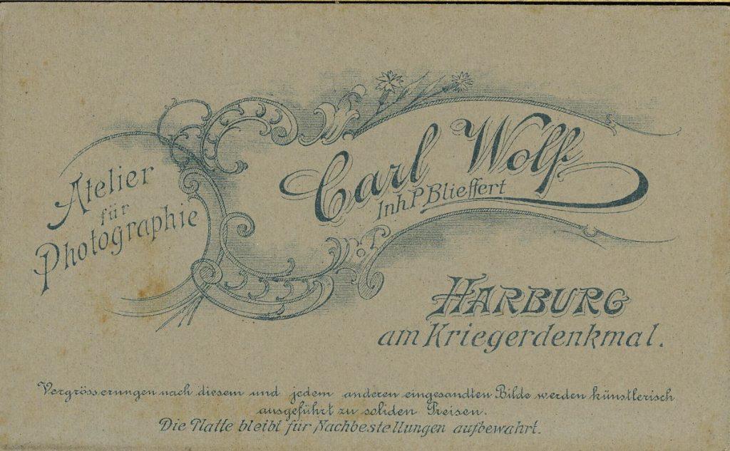 Carl Wolff - Harburg - P. Blieffert