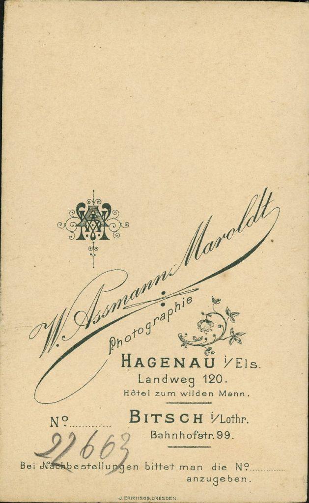 W. Assmann-Maroldt - Hagenau i.E. - Bitsch i.L.