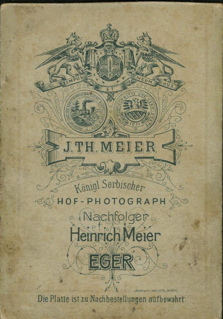 J. Th. Meier - Heinrich Meier - Eger