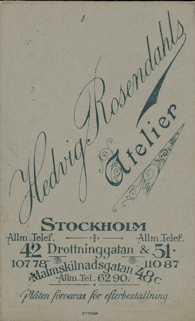 Hedvig Rosendahl - Stockholm