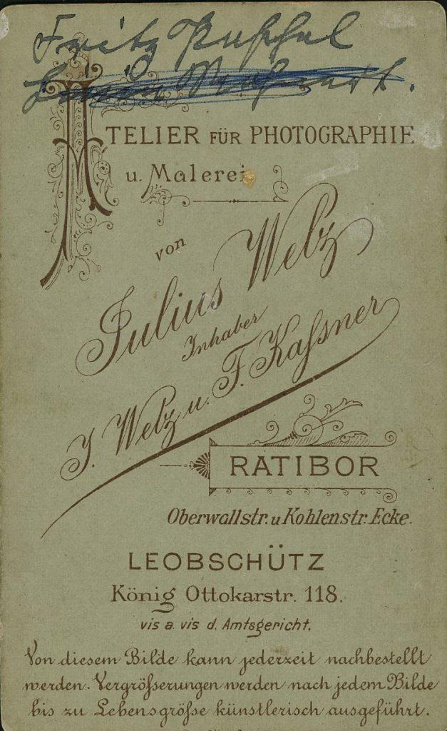 Julius Welz - Ratibor - Leobschütz