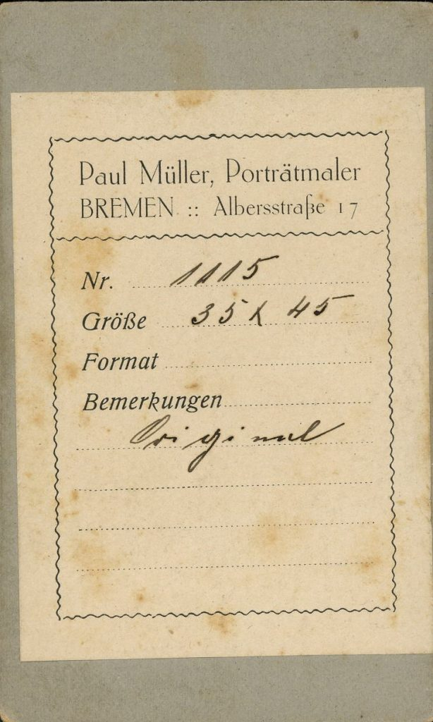 Paul Müller - Bremen - Aug. Escher - Rastatt
