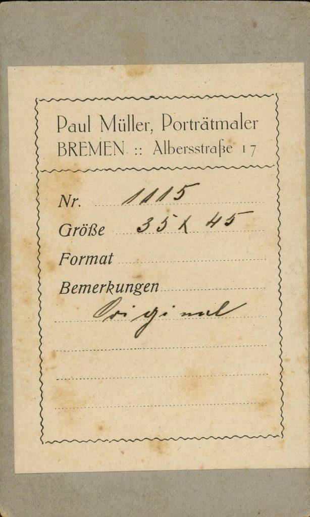 Paul Müller - Bremen - Aug. Escher - Rastatt