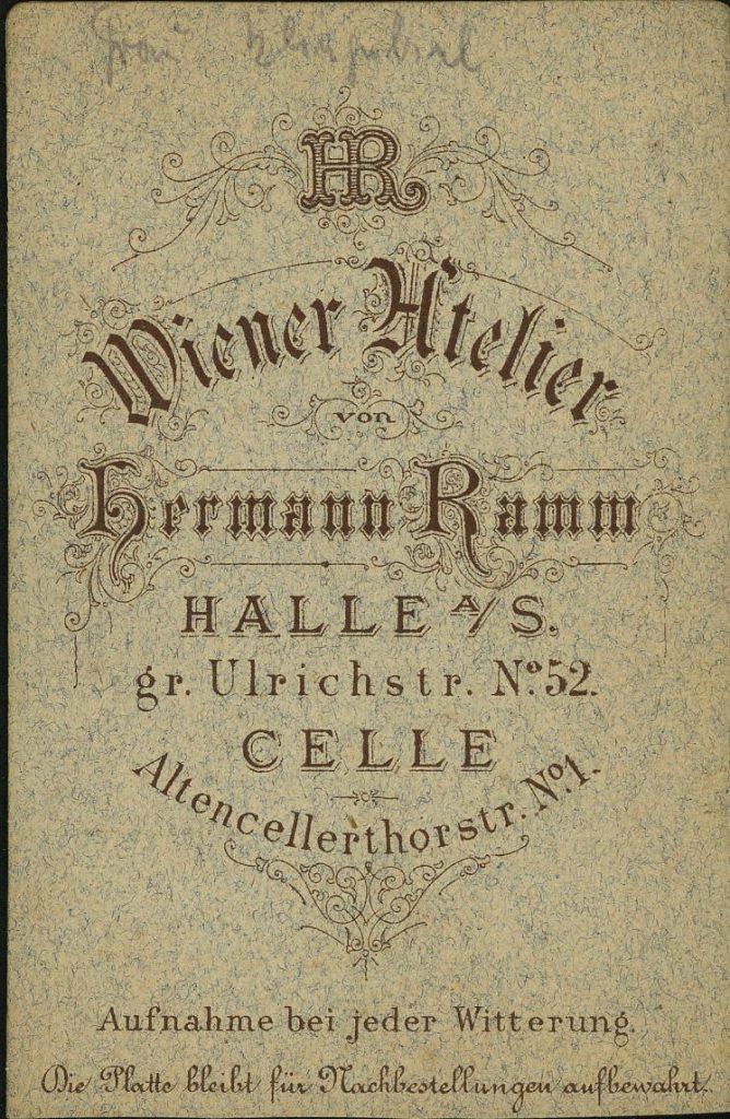 Hermann Ramm - Halle a.S. - Celle