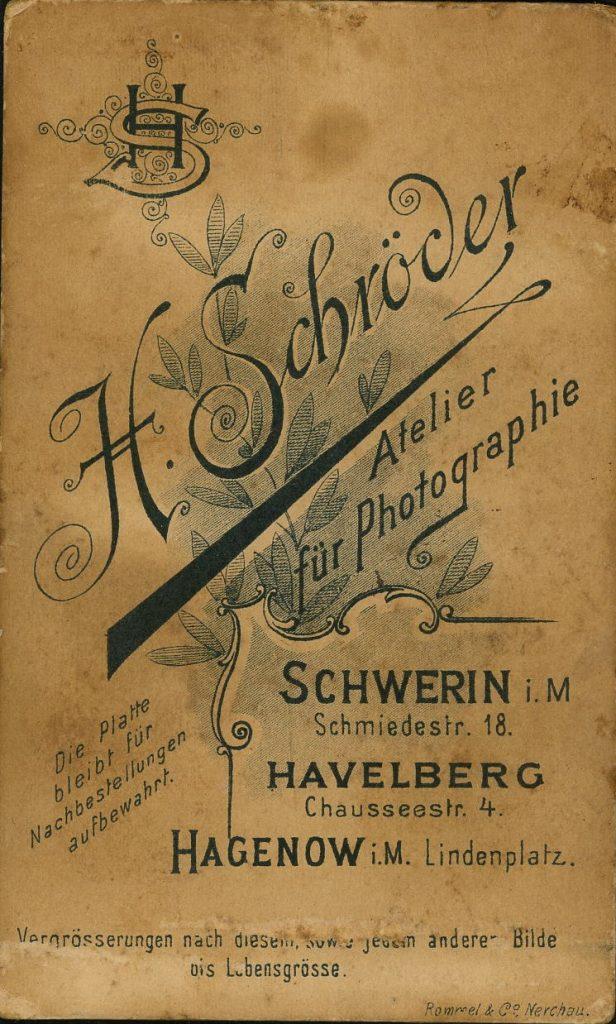 H. Schröder - Schwerin - Havelberg - Hagenow