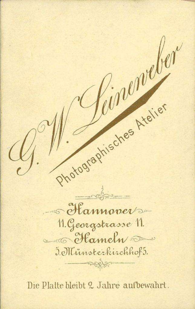 G. W. Leineweber - Hannover - Hameln