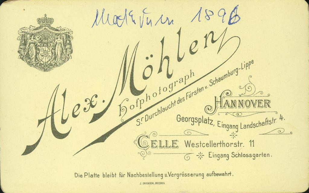 Alex. Möhlen - Hannover - Celle