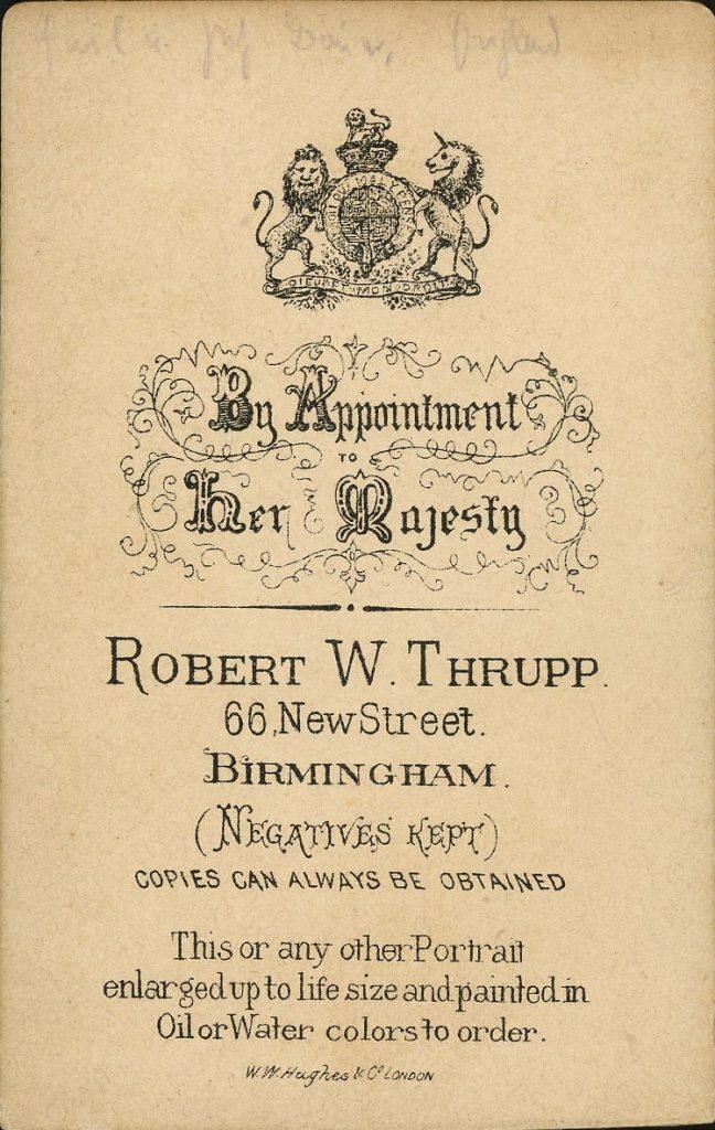 Robert W. Thrupp - Birmingham