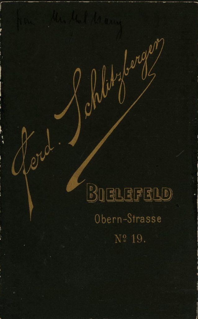 Ferd. Schlitzberger - Bielefeld