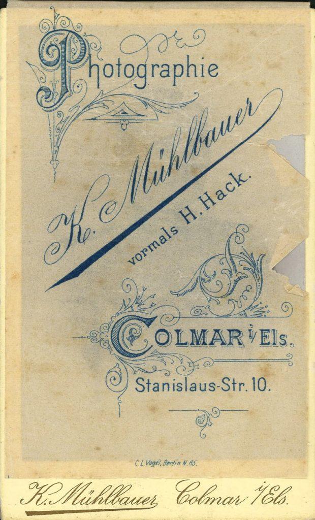 K. Mühlbauer - H. Hack - Colmar i.Els