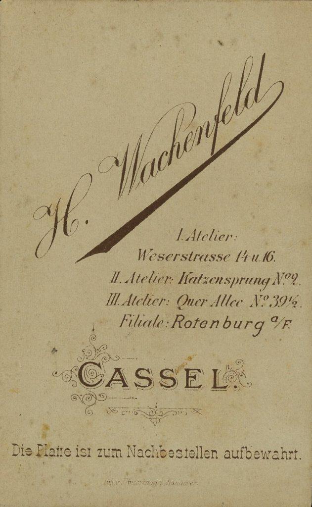H. Wachenfeld - Cassel - Rotenburg a. F.