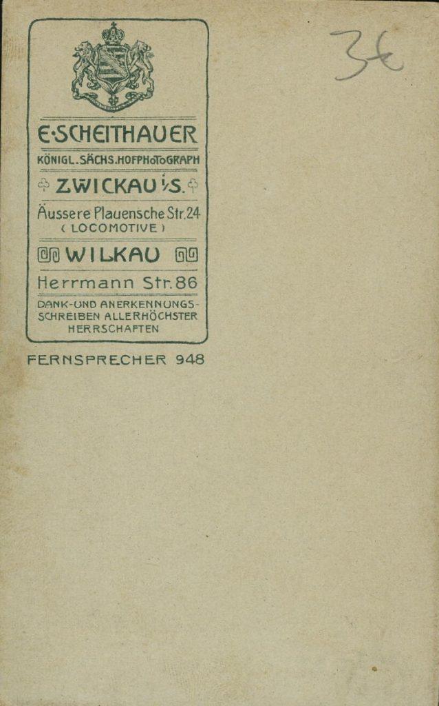 E. Scheithauer - Zwickau - Wilkau