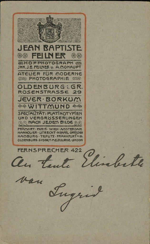 Jean Baptiste Feilner - Oldenburg - Jever - Bockum - Wittmund