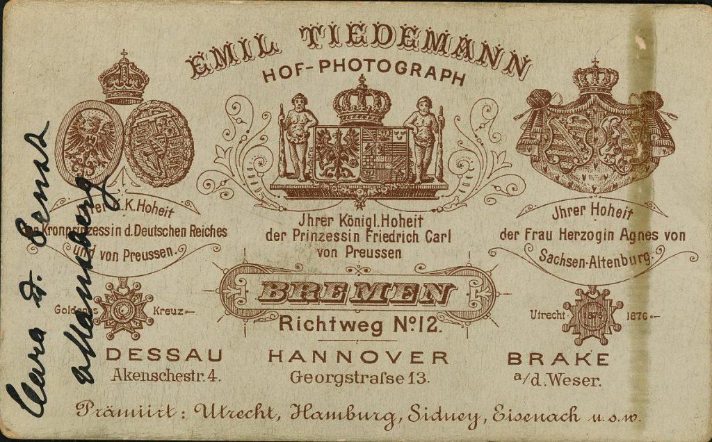 Emil Tiedemann - Bremen - Hannover - Dessau - Brake