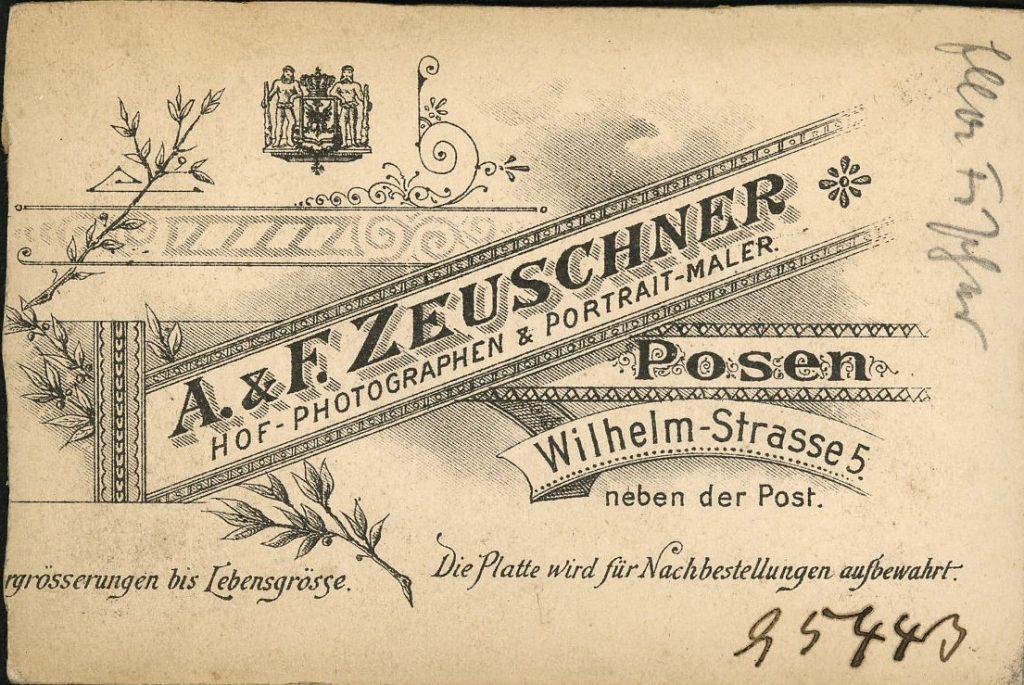 A. Zeuschner - F. Zeuschner - Posen