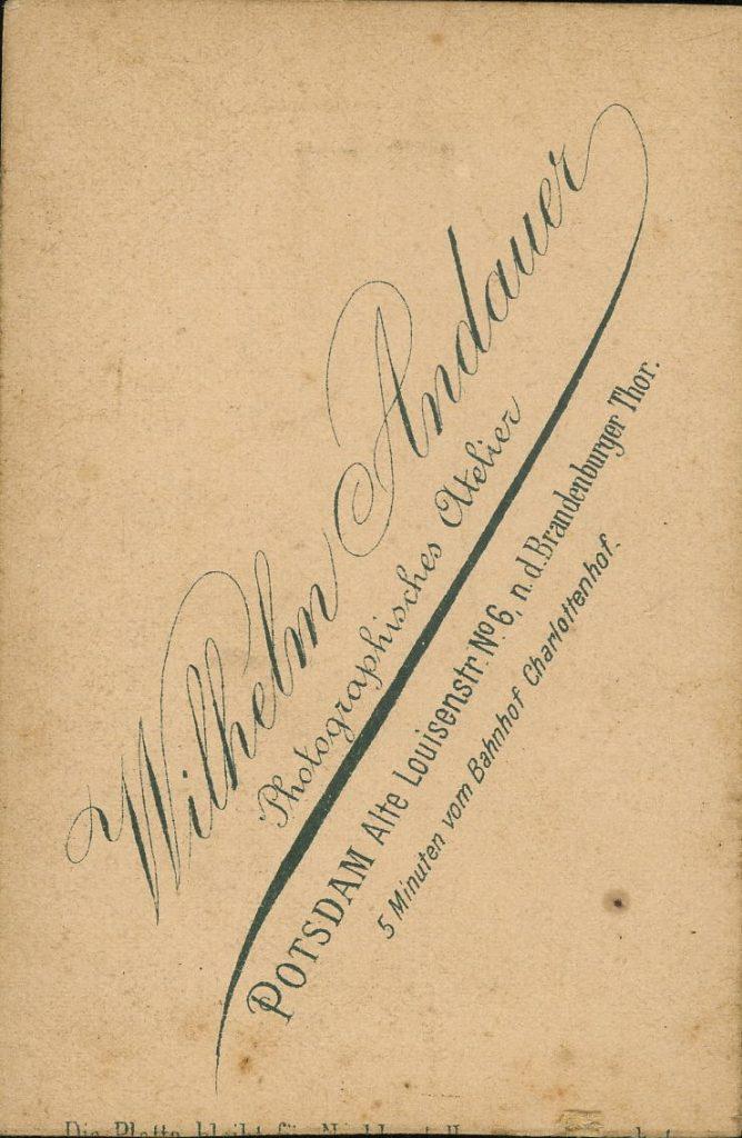 Wilhelm Andauer - Potsdam