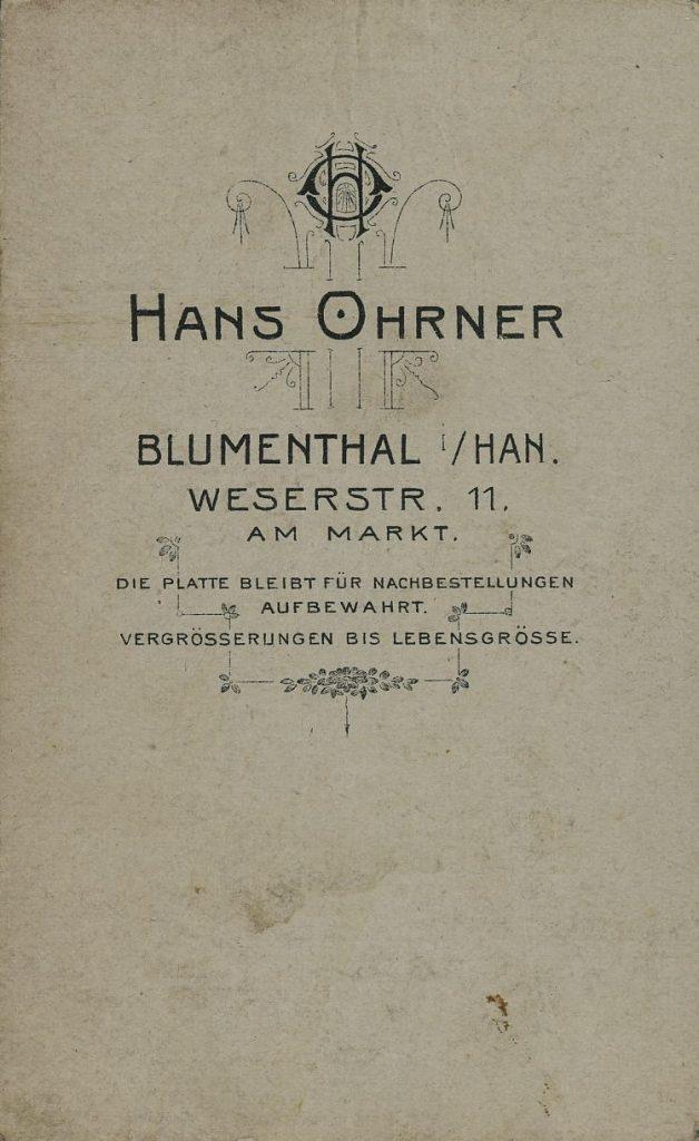 Hans Ohrner - Blumenthal