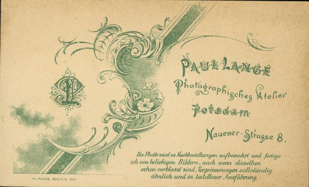 Paul Lange - Potsdam