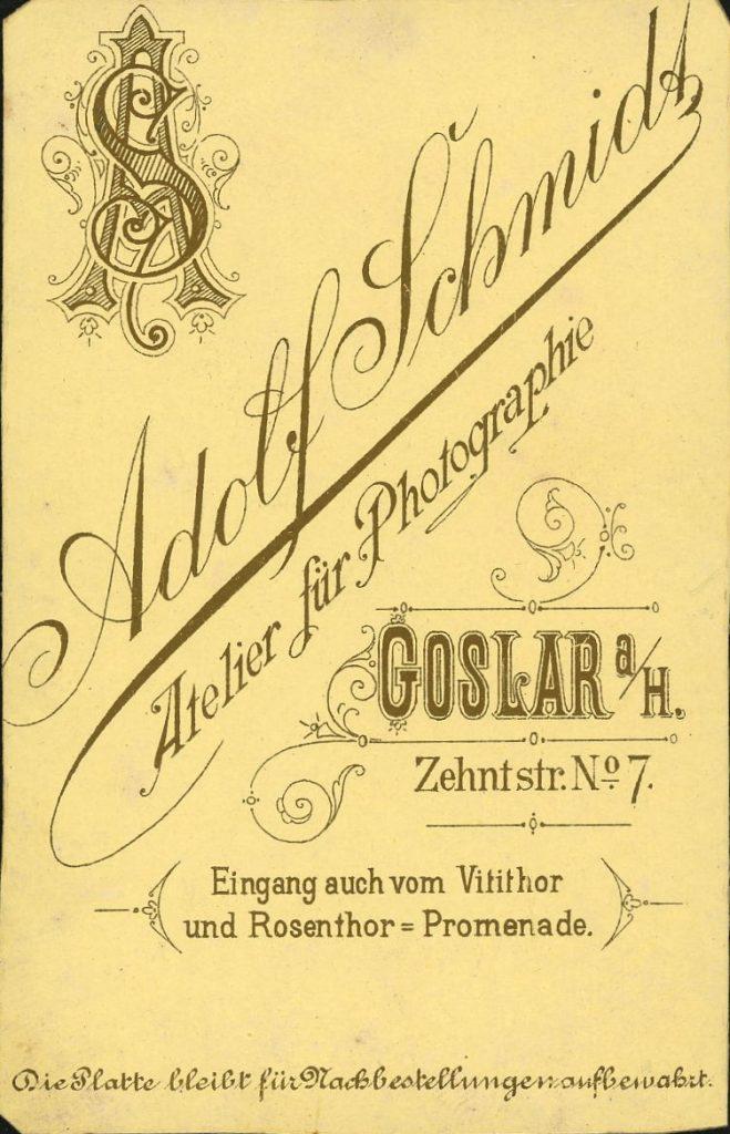 Adolf Schmidt - Goslar
