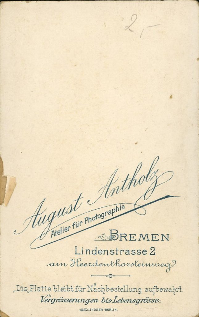 August Antholz - Bremen
