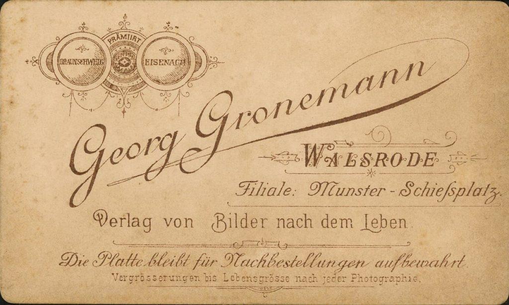 Georg Gronemann - Walsrode - Munster