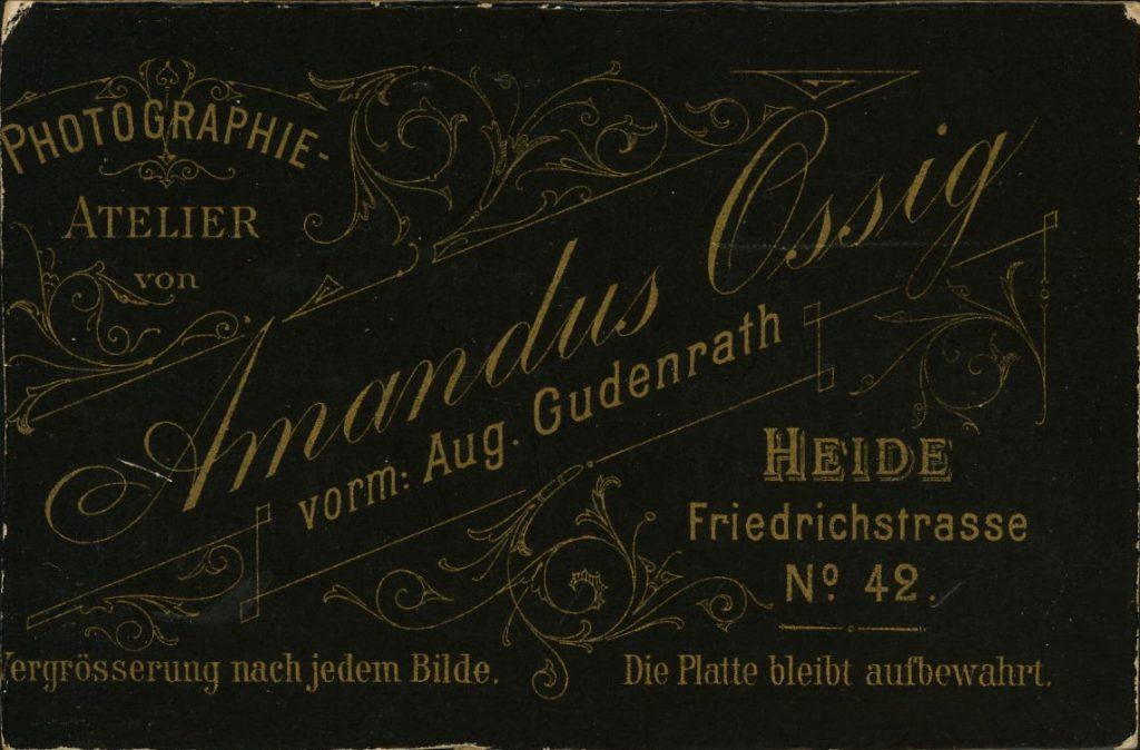 Amandus Ossig - Aug. Gudenrath - Heide