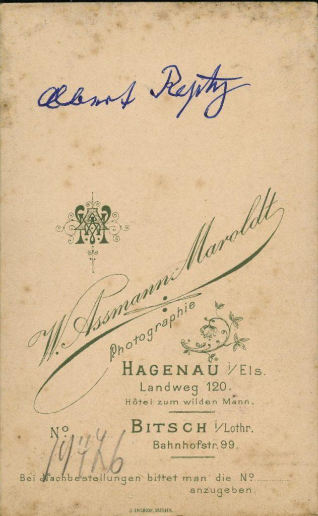 W. Assmann-Maroldt - Hagenau - Bitsch
