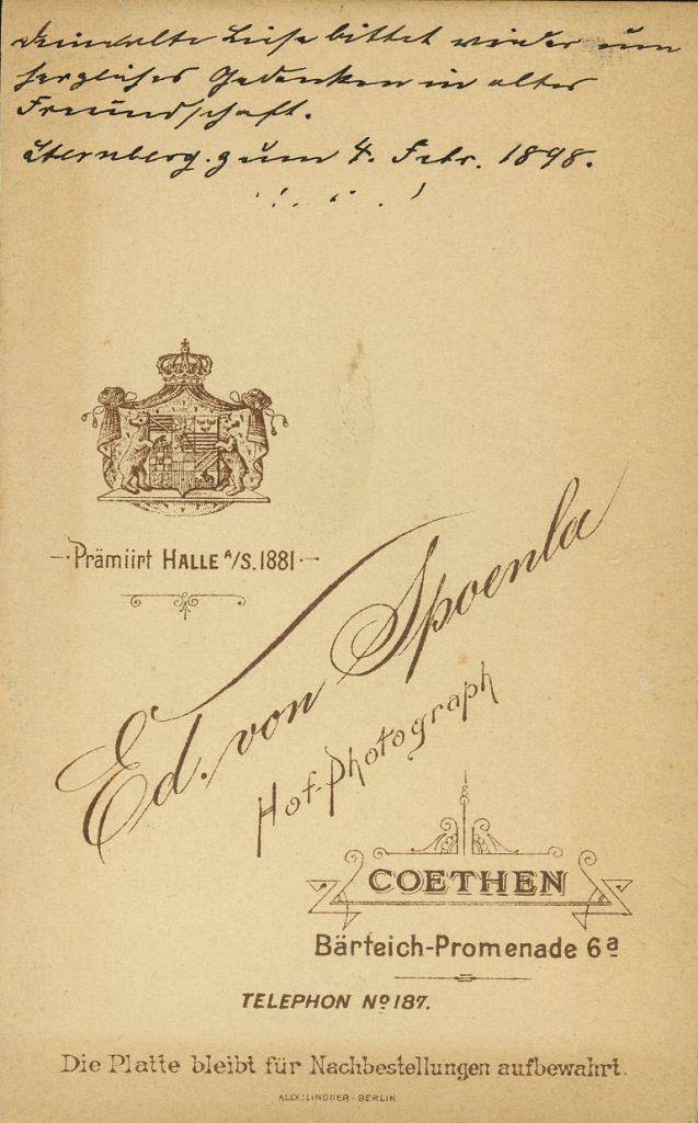 Ed. von Spoenla - Cöthen